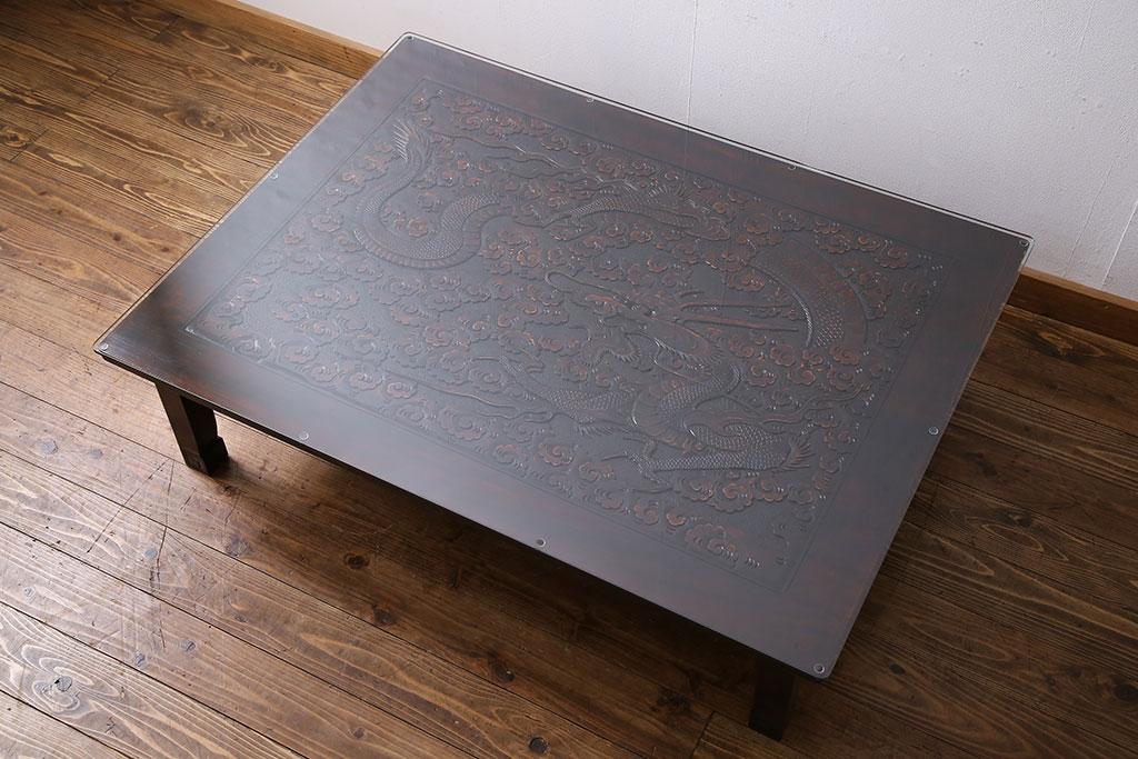 軽井沢彫り ローテーブル(座卓、センターテーブル)