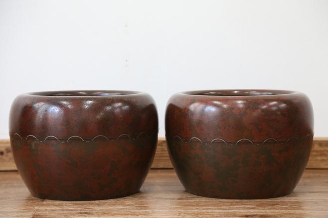 和骨董 朱銅火鉢