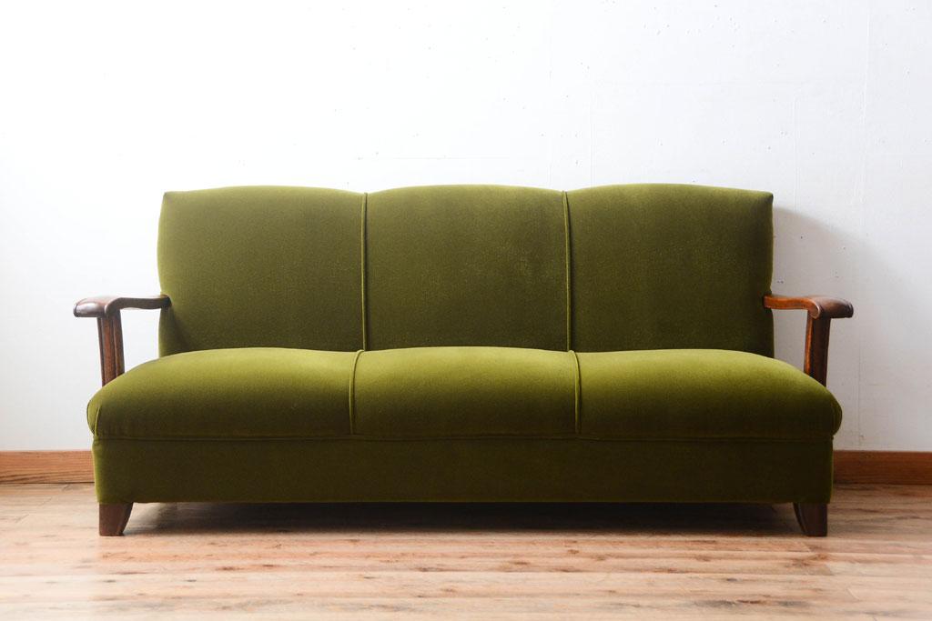 アンティーク家具 3人掛けソファ